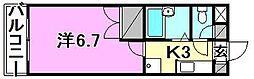 サンピア清水町[102 号室号室]の間取り