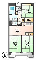 ビレッジハウス笠寺タワー[7階]の間取り