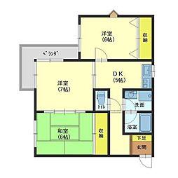 コーポモビリエ一号館[4階]の間取り