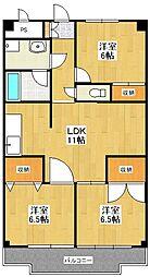 リバーサイドコート[5階]の間取り