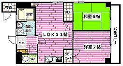 ハイツタカ[301号室]の間取り