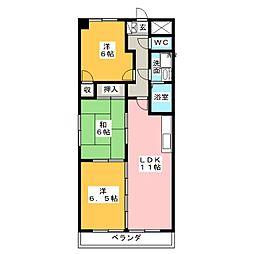 エクセルI[4階]の間取り