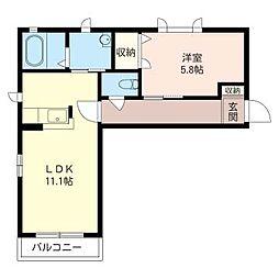 エクセル湘南 G[2階]の間取り