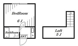 ジュネパレス千葉第2[1階]の間取り