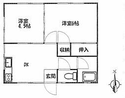 トキワアパート[1号室]の間取り