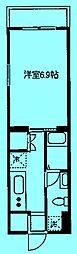 ディチャノーヴェクービ[3階]の間取り