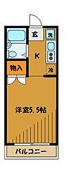 東京都小平市上水本町3丁目の賃貸マンションの間取り
