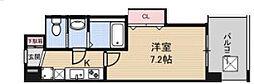 Luxe鶴見 10階1Kの間取り