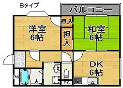 シティパレス廣嶋[2階]の間取り