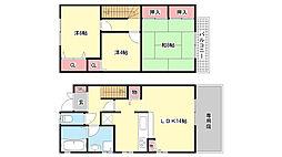[テラスハウス] 兵庫県神戸市東灘区森北町1丁目 の賃貸【/】の間取り