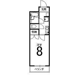 J-BOX1[202号室]の間取り
