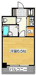ピュアドームパレス博多[12階]の間取り