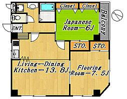市川ハイム第3[3階]の間取り