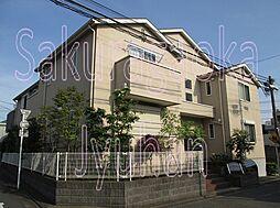 東京都目黒区碑文谷6丁目の賃貸アパートの外観