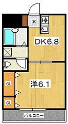 ジュネス西湘[403号室号室]の間取り