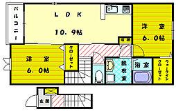 サードコンフォートB[2階]の間取り