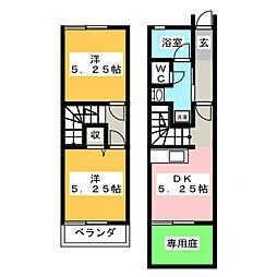 [テラスハウス] 静岡県富士宮市大岩 の賃貸【静岡県 / 富士宮市】の間取り