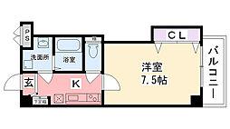 クレールメゾン小松[203号室]の間取り