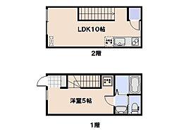casa cozy隅の浜[108号室]の間取り