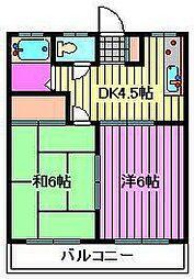 七鈴コーポ[2階]の間取り