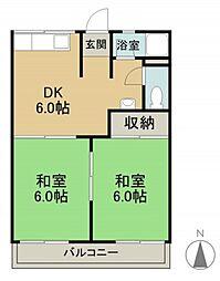 岡本コーポ[2階]の間取り