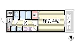 ロイヤルヒル神戸三ノ宮[4階]の間取り