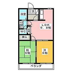 LaVieEnRose[2階]の間取り