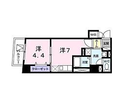 東京都江東区猿江2丁目の賃貸マンションの間取り