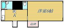 東京都目黒区目黒本町1丁目の賃貸アパートの間取り