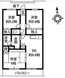 グリーンハイム土屋[2階]の間取り
