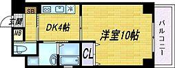 エクセレント天神橋[5階]の間取り