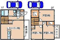 [テラスハウス] 兵庫県神戸市西区玉津町小山 の賃貸【兵庫県/神戸市西区】の間取り
