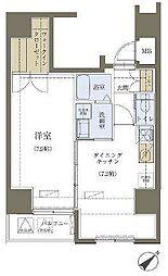 リヴシティ神田[701号室]の間取り