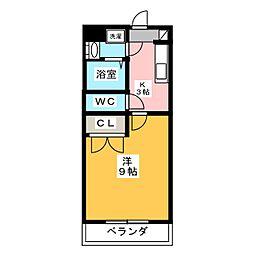 マンション セイバー[2階]の間取り