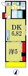 金太郎ヒルズ215[4階]の間取り
