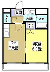 コンフォースII[1階]の間取り