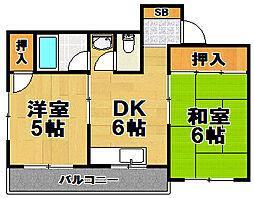 第5向和マンション[2階]の間取り