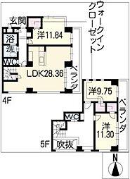 ブランメゾン覚王山[5階]の間取り