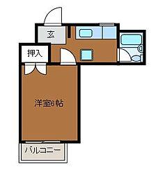 フラット町田[1階]の間取り