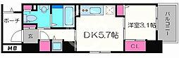 サニーハウス南堀江 7階1DKの間取り