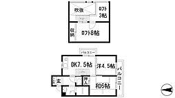 兵庫県宝塚市花屋敷つつじガ丘の賃貸アパートの間取り