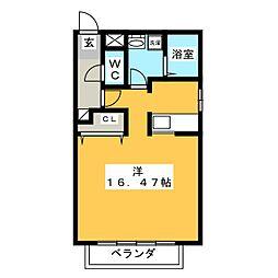 テクノコーポ6[2階]の間取り