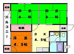 筑前アパート[1階]の間取り
