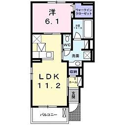 兵庫県三木市別所町高木の賃貸アパートの間取り