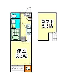 ハーモニーテラス三本松町(ハーモニーテラスサンボンマツチョウ[1階]の間取り