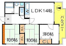 TAMATEマンション[2階]の間取り