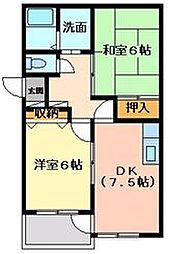 ペアハウス[2階]の間取り
