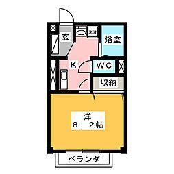 ファーバル常滑[1階]の間取り