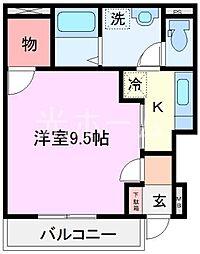 東京都清瀬市上清戸2丁目の賃貸マンションの間取り