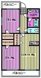 レ・ゼール2[303号室]の間取り